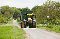 Contractors moving silage kit down the public road <br /> &copy;Tim Scrivener Photographer 07850 303986<br /> ....Covering Agriculture In The UK....