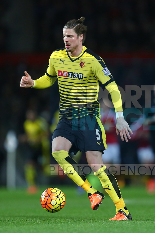 Sebastian Prodl of Watford - Barclay's Premier League - Manchester United vs Watford - Old Trafford - Manchester - 02/03/2016 Pic Philip Oldham/SportImage