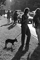 Fans Outside the Venue before the Concert. The Grateful Dead at Pine Knob Music Theatre, Clarkston, MI on 19 June 1991