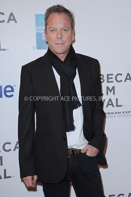 WWW.ACEPIXS.COM . . . . . .April 22, 2013...New York City....Kiefer Sutherland attends the 'Reluctant Fundamentalist' US Premiere during the 2013 Tribeca Film Festival on April 22, 2013 in New York City ....Please byline: KRISTIN CALLAHAN - ACEPIXS.COM.. . . . . . ..Ace Pictures, Inc: ..tel: (212) 243 8787 or (646) 769 0430..e-mail: info@acepixs.com..web: http://www.acepixs.com .