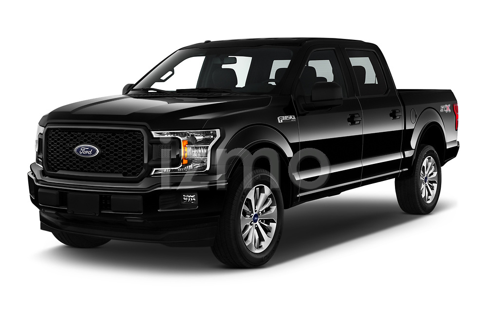 2019 Ford F-150 XL-SuperCrew 2 Door Pick-up Angular Front automotive stock photos of front three quarter view