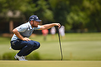 Tyrrell Hatton (ENG) looks over his putt on 12 during round 2 of the WGC FedEx St. Jude Invitational, TPC Southwind, Memphis, Tennessee, USA. 7/26/2019.<br /> Picture Ken Murray / Golffile.ie<br /> <br /> All photo usage must carry mandatory copyright credit (© Golffile | Ken Murray)