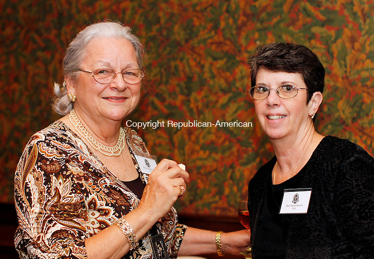 Cheshire, CT-09, June 2010-060910CM05  The Waterbury Hospital School of Nursing Alumni Association held it's scholarship dinner on June 9 at the Waverly Tavern in Cheshire.  Attending the event were (L-R) Ginny Allen, Prospect, and Mary Kamens (Thomaston).  --Christopher Massa Republican-American
