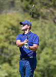 Tony Romo hits an approach shot on the 4th hole during the ACC Golf Tournament at Edgewood Tahoe Golf Course in South Lake Tahoe on Sunday, July 14, 2019.