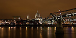 View of Millennium Bridge and St. Paul's Cathedral in London