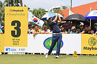Gavin Green (MAS) in action on the 3rd tee during Round 1 of the Maybank Championship at the Saujana Golf and Country Club in Kuala Lumpur on Thursday 1st February 2018.<br /> Picture:  Thos Caffrey / www.golffile.ie<br /> <br /> All photo usage must carry mandatory copyright credit (&copy; Golffile | Thos Caffrey)