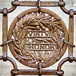 Iron ornamented fence, Ravenna, Italy<br /> <br /> Virtue and Honor
