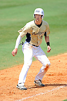 18 March 2012:  FIU outfielder Nathan Burns (6) rounds third base as the Florida Atlantic University Owls defeated the FIU Golden Panthers, 9-3, at University Park in Miami, Florida.