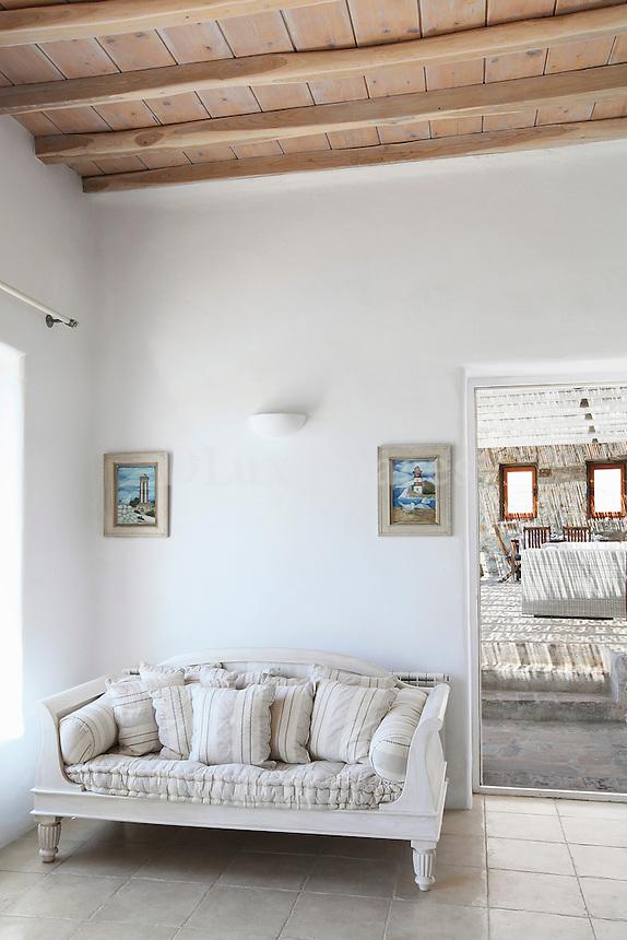 cycladic living room