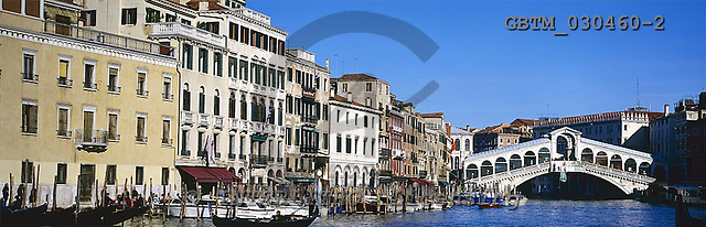 Tom Mackie, LANDSCAPES, panoramic, photos, Grand Canal & Rialto Bridge, Venice, Italy, GBTM030460-2,#L#