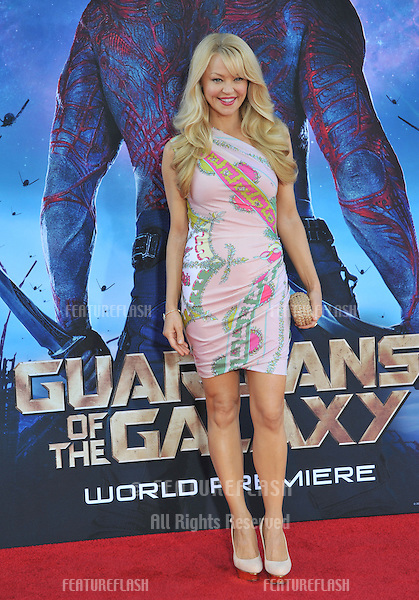 Charlotte Ross at the world premiere of &quot;Guardians of the Galaxy&quot; at the El Capitan Theatre, Hollywood.<br /> July 21, 2014  Los Angeles, CA<br /> Picture: Paul Smith / Featureflash