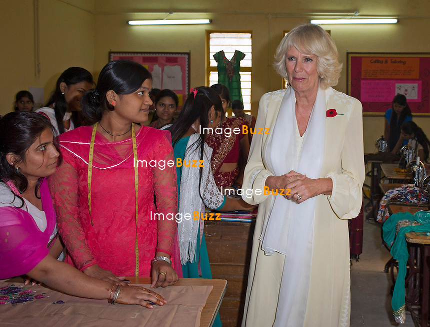CAMILLA<br /> visits the Katha Lab School in the slum district of Govindpuri, New Delhi, India_08/11/2013.<br /> The couple are on a 9-day tour of India<br /> Mandatory Credit Photo: &copy;Dias/DIASIMAGES<br /> <br /> **ALL FEES PAYABLE TO: &quot;NEWSPIX INTERNATIONAL&quot;**<br /> <br /> IMMEDIATE CONFIRMATION OF USAGE REQUIRED:<br /> Newspix International, 31 Chinnery Hill, Bishop's Stortford, ENGLAND CM23 3PS<br /> Tel:+441279 324672  ; Fax: +441279656877<br /> Mobile:  07775681153<br /> e-mail: info@newspixinternational.co.uk