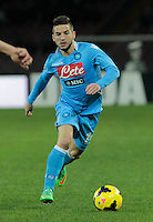 Dries Mertens   in action during the Italian Serie A soccer match between SSC Napoli and Chievo  at San Paolo stadium in Naples, January 25, 2014<br />  a