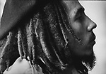 Reaggae singer Bob MARLEY, of the Wailers, at home in Kingston, Jamaica, March 1976...1999 © David BURNETT (CONTACT PRESS IMAGES)©2009 David Burnett / Contact Press Images.NY: 212-695 7750..1976    Bob Marley at home, at his Tuff Gong compound, on Hope Road, Kingston, Jamaica