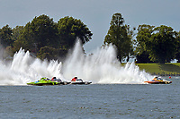 "(L to R): Mathew Daoust, GP-9, Bert Henderson, GP-777 ""EMS Steeler"", Ken Brodie II, GP-50 ""Intensity"" and Marty Wolfe, GP-93 ""Renegade""  START          (Grand Prix Hydroplane(s)"