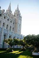 The Salt Lake Temple, at Temple Square in Salt Lake City, Utah, Tuesday, October 2, 2012. ..Photo by Matt Nager
