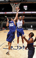 Mikael Hopkins at the NBPA Top100 camp June 19, 2010 at the John Paul Jones Arena in Charlottesville, VA. Visit www.nbpatop100.blogspot.com for more photos. (Photo © Andrew Shurtleff)