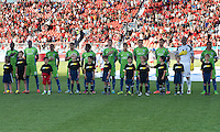 August 10, 2013: The Seattle Sounders FC during the opening ceremonies  in an MLS regular season game between the Seattle Sounders and Toronto FC at BMO Field in Toronto, Ontario Canada.<br /> Seattle Sounders FC won 2-1.