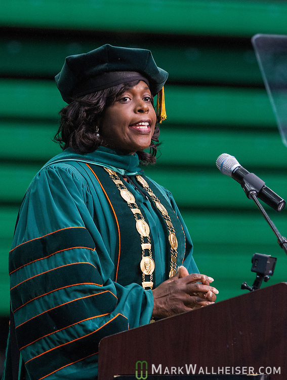 Dr Elmira Mangum speaks after her inauguration as FAMU's 11th president on the FAMU campus in Tallahassee, FL October 3, 2014.
