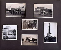 BNPS.co.uk (01202 558833)<br /> Pic: C&amp;TAuctions/BNPS<br /> <br /> Pictures also include Hitler's personal Junkers 52 aircraft named 'Immelman' after the WW1 ace.<br /> <br /> A photo album containing never-before-seen candid snaps of Adolf Hitler that was found in Eva Braun's bedroom drawer in the Fuhrer's Bunker has sold for more than &pound;41,000.<br /> <br /> The remarkable images show the Nazi dictator and his henchmen in rare lighter moments of the Second World War.<br /> <br /> The album, which was unearthed after 72 years, sparked fervent interest and attracted a phone bid of more than double its estimate of &pound;18,000.<br /> <br /> The hammer price was &pound;34,000, with extra fees pushing the final total to &pound;41,140.<br /> <br /> There is one snap of a grinning Hitler in a 'Chaplinesque' pose and offering a playful salute to the person taking the photo outside his Berghof headquarters. Two more show him smiling in front of a crowd of children saluting him.