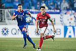 Suwon Forward Johnathan Da Silva Vilela (L) and Guangzhou Midfielder Zheng Zhi (R) in action during the AFC Champions League 2017 Group G match Between Suwon Samsung Bluewings (KOR) vs Guangzhou Evergrande FC (CHN) at the Suwon World Cup Stadium on 01 March 2017 in Suwon, South Korea. Photo by Victor Fraile / Power Sport Images