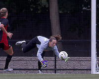 NC State goalkeeper Kim Kern (17) save. Boston College defeated North Carolina State,1-0, on Newton Campus Field, on October 23, 2011.