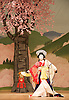 Kabuki <br /> featuring Ebizo Ichikawa XI<br /> at Sadler's Wells, London, Great Britain <br /> rehearsal <br /> 3rd June 2010 <br /> <br /> Nakamura Shibajaku (as Shizauka)<br /> <br /> Photograph by Elliott Franks