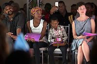 MAPUTO, MOZAMBIQUE – DECEMBER 12: Guests watch a show at Mozambique fashion week on December 12, 2015 in Maputo, Mozambique. The yearly event brings designers from Southern Africa and Portugal. (Photo by: Per-Anders Pettersson)