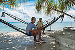 Two youths hanging out in Funafuti, Tuvalu