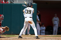 Jacob Hurtubise (39) of the Army Black Knights at bat against the North Carolina State Wolfpack at Doak Field at Dail Park on June 3, 2018 in Raleigh, North Carolina. The Wolfpack defeated the Black Knights 11-1. (Brian Westerholt/Four Seam Images)
