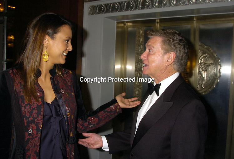 "Eva La Rue and Regis Philbin..at The 60th  Boys' Towns of Italy  ""Ball of the Year""  on..April 8, 2005 at The Waldorf Astoria Hotel. ..Photo by Robin Platzer, Twin Images"