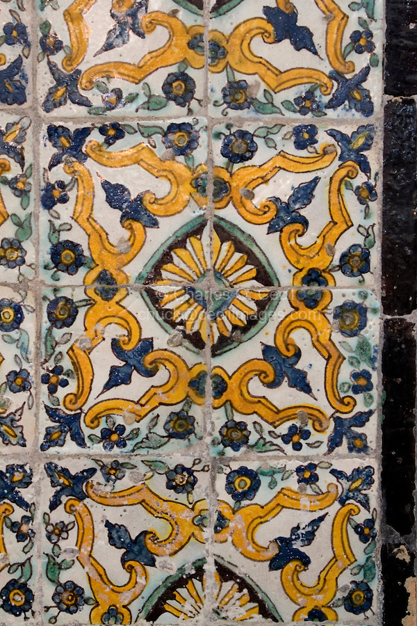 Tripoli, Libya - Tunisian Tiles, Gurgi Mosque, Medina (Old City), 19th Century.