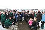 Turning of the First Sod on the Site of the new school on the Bryanstown Crossroute...(Photo credit should read Jenny Matthews www.newsfile.ie)....This Picture has been sent you under the conditions enclosed by:.Newsfile Ltd..The Studio,.Millmount Abbey,.Drogheda,.Co Meath..Ireland..Tel: +353(0)41-9871240.Fax: +353(0)41-9871260.GSM: +353(0)86-2500958.email: pictures@newsfile.ie.www.newsfile.ie.