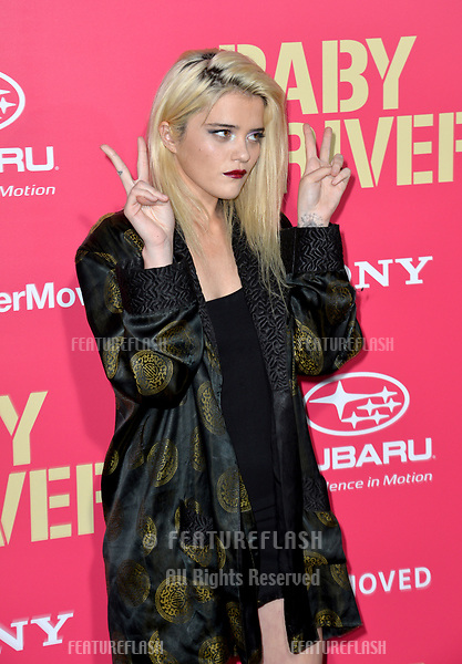 Sky Ferreira at the Los Angeles premiere for &quot;Baby Driver&quot; at the Ace Hotel Downtown. <br /> Los Angeles, USA 14 June  2017<br /> Picture: Paul Smith/Featureflash/SilverHub 0208 004 5359 sales@silverhubmedia.com
