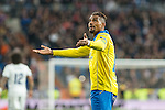 Prince Boateng of UD Las Palmas celebrates after scoring a goal  during the match of Spanish La Liga between Real Madrid and UD Las Palmas at  Santiago Bernabeu Stadium in Madrid, Spain. March 01, 2017. (ALTERPHOTOS / Rodrigo Jimenez)