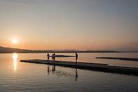 Varese. Lombardia. ITALY. General View.  Sun Set, Crewsreturning from afternoon Training on Lake/Lago Varies. [Varese Rowing Club]. [Canottieri Varese]<br /> <br /> Tuesday  03/01/2017<br /> <br /> [Mandatory Credit; Peter Spurrier/Intersport-images]<br /> <br /> <br /> LEICA CAMERA AG - LEICA Q (Typ 116) - 1/2500 - f4