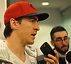 Ryan McDonagh #27, New York Rangers captain, speaks to the media at Madsion Square Garden Training Center in Greenburgh, NY on Thursday, May 11, 2017. The Rangers' season ended on Tuesday, May 9 when the team lost to the Ottawa Senators four games to two in the second round of the Stanley Cup Playoffs.