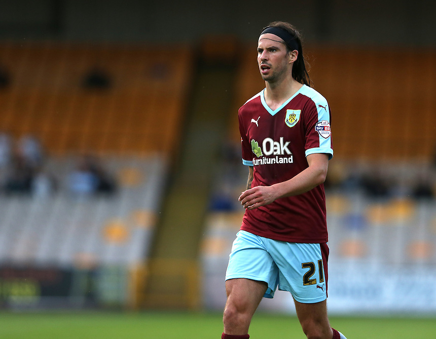 Burnley's George Boyd<br /> <br /> Photographer Stephen White/CameraSport<br /> <br /> Football - Capital One Cup First Round - Port Vale v Burnley - Tuesday 11th August 2015 - Vale Park<br />  <br /> &copy; CameraSport - 43 Linden Ave. Countesthorpe. Leicester. England. LE8 5PG - Tel: +44 (0) 116 277 4147 - admin@camerasport.com - www.camerasport.com