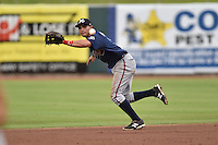 Mississippi Braves second baseman Jose Peraza #7 during a game against the Tennessee Smokies at Smokies Park on July 21, 2014 in Kodak, Tennessee. The Braves defeated the Smokies 4-3. (Tony Farlow/Four Seam Images)