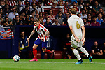 Kieran Trippier of Atletico de Madrid and Nacho Fernandez of Real Madrid during La Liga match between Atletico de Madrid and Real Madrid at Wanda Metropolitano Stadium{ in Madrid, Spain. {iptcmonthname} 28, 2019. (ALTERPHOTOS/A. Perez Meca)