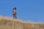 Woman hiking at Cronan Ranch Regional Trails Park, Pilot Hill, California