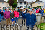 """Kevin Lynch from Lisbeg, Tralee turned 90 on Saturday and had a """"social distanced"""" get together in his garden on Saturday. Kevin was the station master in Tralee for many years."""
