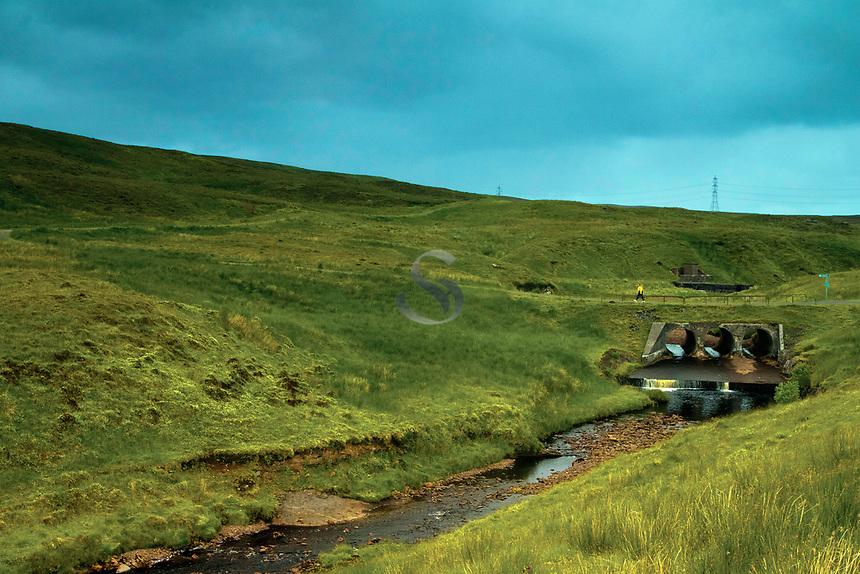 The Barytes Mine Track crossing the River Calder, Muirshiel Country Park, Renfrewshire