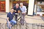 Tom Foley, pictured with Dan Galvin and Ted Moynihan is planning to cycle to Rome in aid of the Kerry Hospice Foundation next year