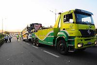 SAO BERNARDO DO CAMPO) Acidente ONIBUS. Um acidente na Via Anchieta km 23 sentido Sao Paulo entre Onibus e um Caminhao.FOTO: ADRIANO LIMA / BRAZIL PHOTO PRESS).