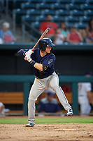Mobile BayBears Connor Justus (7) at bat during a Southern League game against the Jacksonville Jumbo Shrimp on May 28, 2019 at Baseball Grounds of Jacksonville in Jacksonville, Florida.  Mobile defeated Jacksonville 2-1.  (Mike Janes/Four Seam Images)