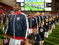 FRISCO, TX - FEBRUARY  29, 2012: U.S. U-23 Men's National Team against Mexico U-23 at FC Dallas Stadium on February 29, 2012 in Frisco, Texas.