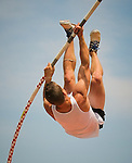 "Josh Kettlewell attempts to clear 15'6"" while competing in the pole vault at the 2011 Meijer State Games of Michigan. (Photo by Bob Campbell)"