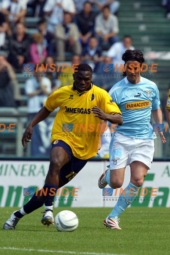 Roma 16/5/2004 Lazio Modena 2-1 Campionato Italiano Serie A 2003/2004 <br /> Ayodele Makinwa (Modena) <br /> Photo Andrea Staccioli Insidefoto