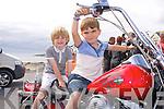 Darragh and Cian Duggan enjoying the Ballyheigue Summer Festival Grand Parade on Sunday